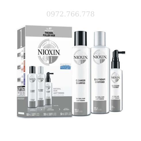 Bộ chống rụng và kích thích mọc tóc Nioxin số 1