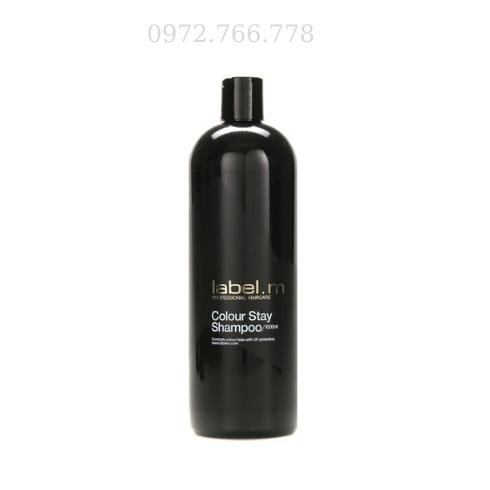 Dầu gội dưỡng màu tóc nhuộm Label.m