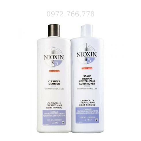 Dầu gội xả Nioxin chống rụng tóc số 5